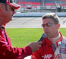 Unc interviewing Scott Pruett pre-race.