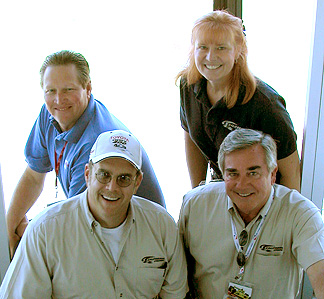 The CalSpdway Announcer Team.