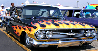 Flamed '62 Chevy.