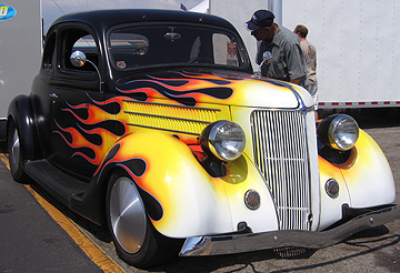 Flamed coupe.
