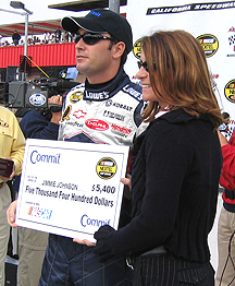 Jimmie Johnson gets the  cash.