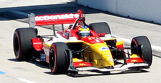 Sebastien Bourdais at speed.