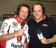 Robby Gordon on-air with J.B.