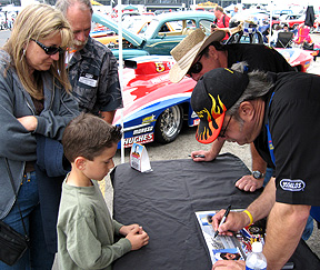 Signing for a kid.