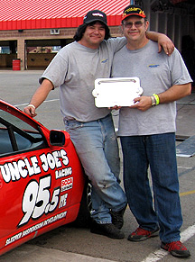 Jim & Joe after winning 2 @CalSpdway.