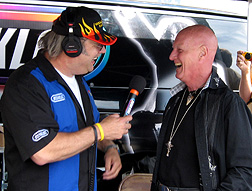 J.B. on air with Chris Slade.