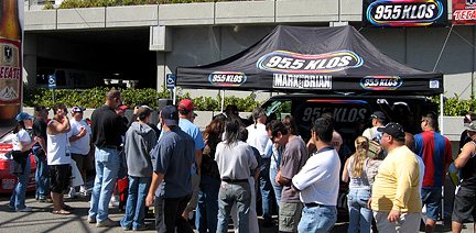 Crowd at the KLOS booth.