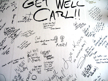 Carl's get well card.