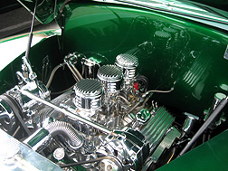 Detailed chrome engine.