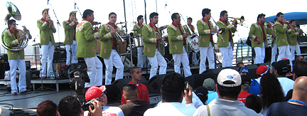 Banda El Recodo on stage.