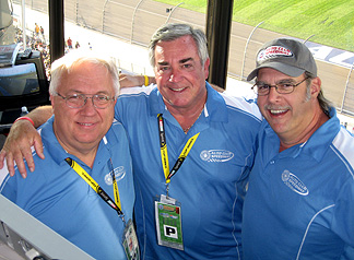 Mike Paz, Jim Mueller & Unc in booth.