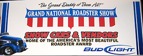 2008 Roadster Show sign.