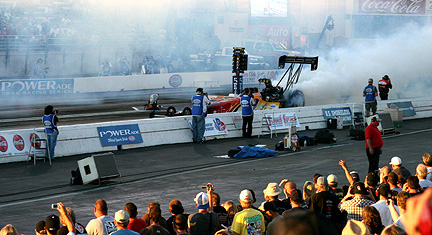 Top Fuel burnout.