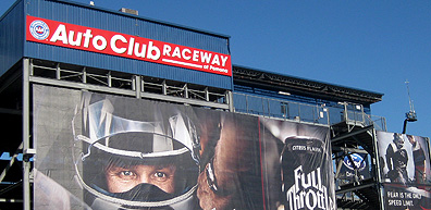 Full Throttle Auto Club Raceway signage.