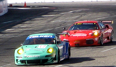 Porsche & Ferraris racing.
