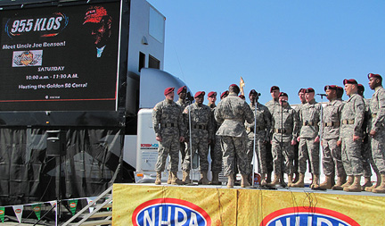 U.S. Army Airborne chorus performing.