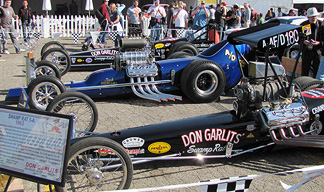 Garlits' dragsters.