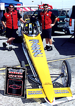 Dragster on display.