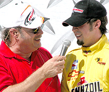 Sam Hornish & Joe.
